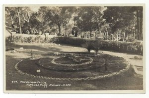 Australia The Floral Clock Sydney Australia N.S.W. Real Photo Postcard RPPC