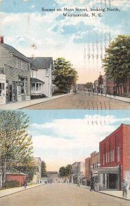 Waynesville North Carolina Main Street Looking North Vintage Postcard JI658426