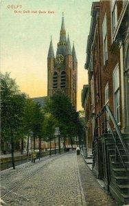 Netherlands Delft old postcard