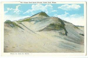 Cape Cod Sand Dunes, Cape Cod, Mass, 1934 used Postcard