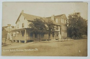 RPPC Orrstown Pa Hotel Minter, c1900s Clyde Laughlin Real Photo Postcard O5