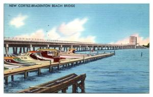 1965 New Cortez-Bradenton Beach Bridge, FL Postcard *5N17