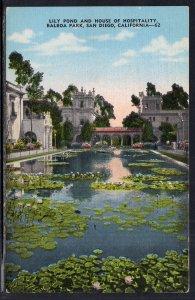 Lily Pond and House of Hospitality,Balboa Park,San Diego,CA