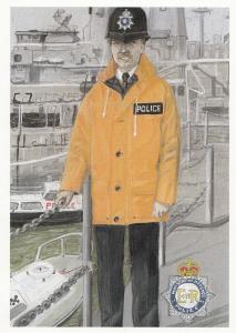 Marine Officer Ministry Of Defence Police Policeman Plain Back Rare MOD Postcard