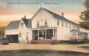 LPV15 Plymouth Vermont Postcard Cilleys Store and Post Office Albertype
