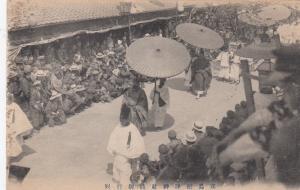 JAPAN, 00-10s; Men with umbrellas in parade