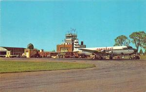 Portland ME Northeast Airlines Prop Airplane Postcard