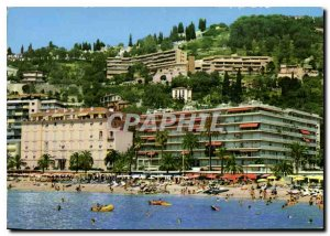 Postcard Modern Riviera Menton M Beaches and Promenade