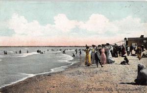 Port Huron Michigan Huronia Beach Scene Antique Postcard K67564