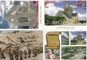 Saint Mere Eglise D-Day Monument Military 4x French Postcard s