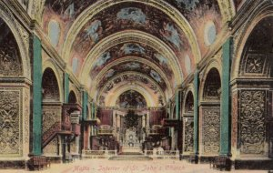 MALTA,1900-1910s , Interior of St John's Church