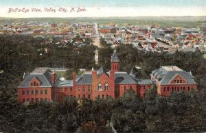 Valley City North Dakota Birdseye View Of City Antique Postcard K82370