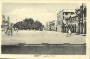 djibouti, La Place Menelik, Bike (1930s)