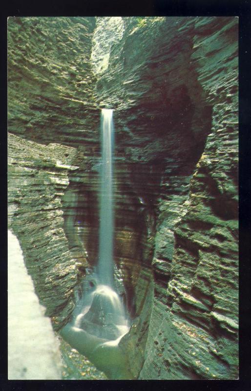 Watkins Glen New York/NY Postcard, Cavern Cascade