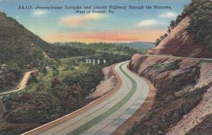 Pennsylvania West Of Everett Pennsylvania Turnpike And Highway Through The Na...
