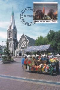 Christchurch Flower Vendor Market Stall New Zealand First Day Cover