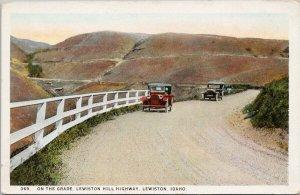 Lewiston Idaho ID Lewiston Hill Highway Unused Wesley Andrews Postcard G10