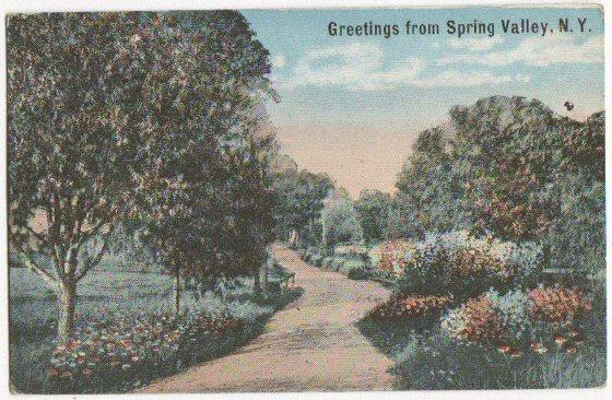 Greetings From Spring Valley NY -vintage-