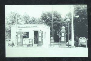 ST. CLAIR MISSOURI ROUTE 66 WALTER DUEMIER'S GAS STATION POSTCARD MO.