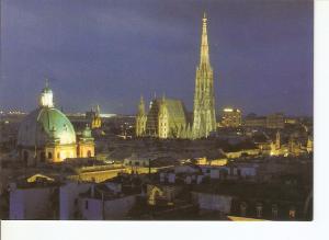 Postal 027774 : Vienna (Austria), Panorama mit Stepahnsdom