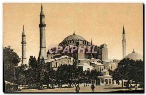 Postcard Old Constantinople St. Sophia Turkey