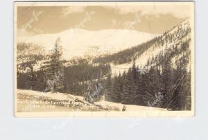 RPPC REAL PHOTO POSTCARD COLORADO SWITCHBACKS ON LOVELAND PASS ALTITUDE 11,992