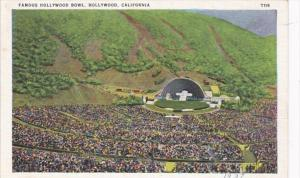 California Hollywood Aerial View Hollywood Bowl Easter Services