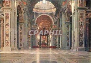 Postcard Modern Citta del Vaticano Interior of St. Peter's Basilica