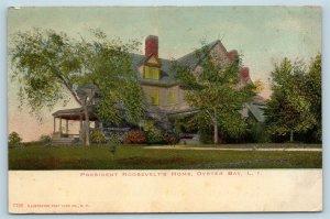 Postcard NY Oyster Bay LI Long Island President Roosevelt's Home 1906 View O03