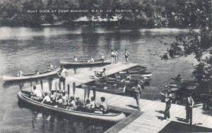 New Jersey Newton Boat Dock At Camp Minisink R F D  Artvue