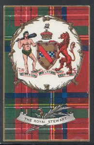 Heraldy Postcard - Scotland - Clan Tartan Heraldic - The Royal Stewart RS21009