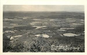 McConnellsburg PA~City From Tuscarora Summit~Cave Mt~1940s Real Photo~RPPC