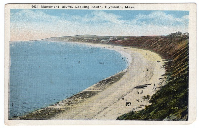 Plymouth, Mass, Manoment Bluffs, Looking South