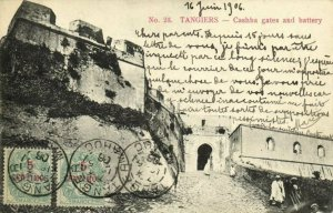 CPA AK MAROC TANGIERs - Cashba gates and battery (93305)