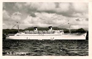 White Star Line - SS Homeric   *RPPC    *PAQUEBOT