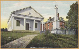 Gorham, Me., Town Hall and Soldiers Monument - 1909