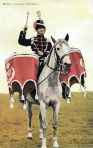 Military postcard Muziek Cavalerie Paukenfst 02.14