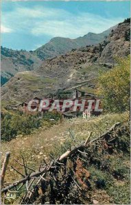 Postcard Modern Valls of Andorra Aldea in the montana