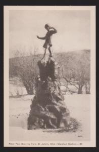 NEWFOUNDLAND - Peter Pan Statue Bowering Park - Marshall Studios - Unused