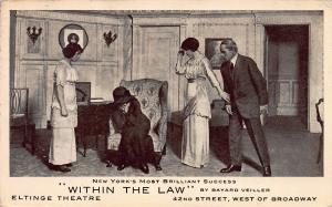 Within the Law, Eltinge Theater, 42nd St., N.Y.C., Early Postcard, Used in 1912