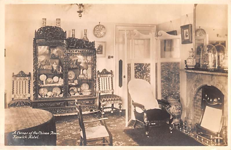 Corner of the Chinese Room, Keswick Hotel United Kingdom, Great Britain, Engl...