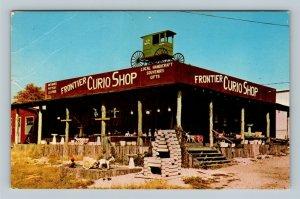 Hardy AR, Frontier Curio Shop, Chrome Arkansas Postcard
