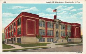 F23 Moundsville West Virginia Postcard c1930s High School Building 20
