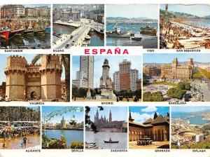 Spain Espana multiviews Madrid Alicante Sevilla Zaragoza Granada Malaga Vigo