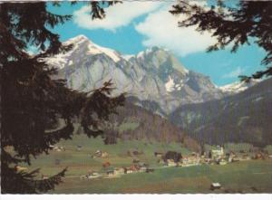 Switzerland Kurlandschaft Obertoggenburg Wildhaus mit Schafberg 1958