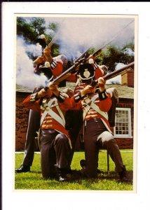Red Coats, Firing Riffles, Historic Fort York, Toronto, Ontario