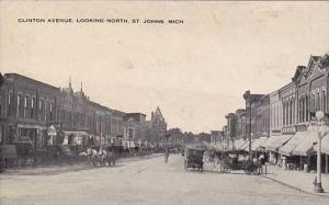 Michigan St Johns Clinton Avenue Looking North
