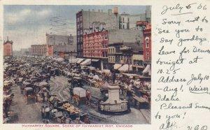 CHICAGO, Illinois, PU-1906; Haymarket Square, Scene of Haymarket Riot