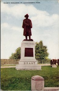 Grant's Monument Fort Leavenworth KS Kansas Webb-Freyschlog Postcard F51
