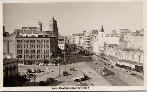 Queen Street Auckland New Zealand NZ Unused Real Photo Postcard E71